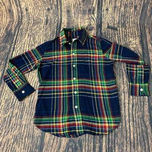 Gap Kids Lightweight Elysian Blue Blair Flannel S